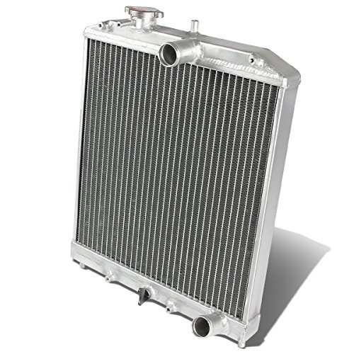 For Honda D15/16/B18 1.5L/1.6L/1.8L I4 MT 2-Row Dual/Double Core T-6061 Aluminum Radiator