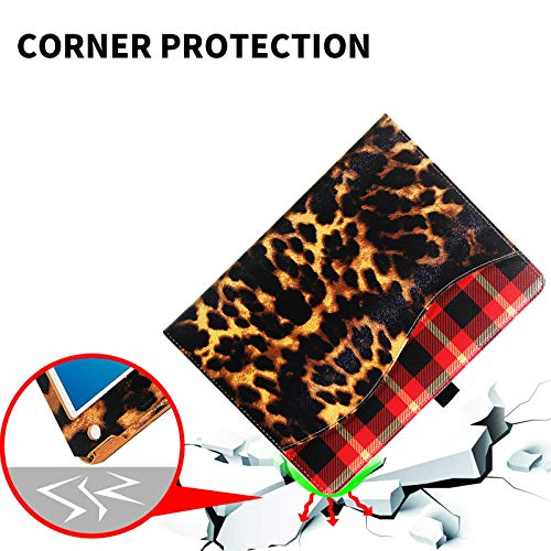 CASIRENA Leopard Case for iPad 9.7, with Corner Protect, for iPad Air 2/Air 1/6th/5th Gen, Premium PU Leather Cover for iPad 6/5 Generation(2018/2017), Two-Angle Viewing Magnetic Auto Wake Up/Sleep