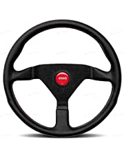 Momo MCL35BK3B Steering Wheel (Monte Carlo 350 Leather Red Stich)
