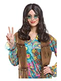 60s Hippie Wig (brown) Unisex Adult Halloween Costume Accessory