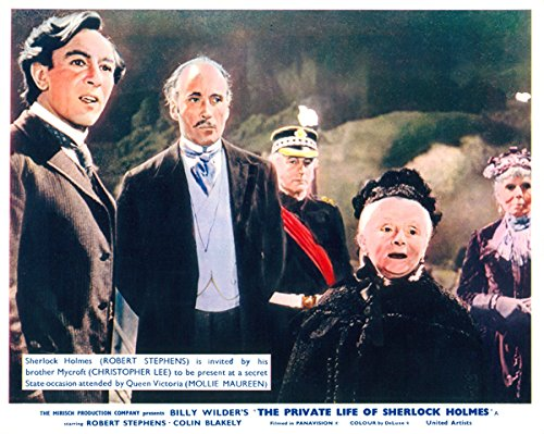 The Private Lives of Sherlock Holmes Lobby Card Robert Stephens Christopher Lee from Silverscreen