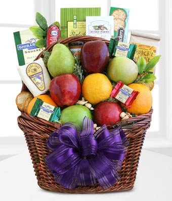 Modesto Valley Fruit & Nut Gift Basket - Same Day Dried Fruit Basket Delivery - Dried Fruit Gifts - Best Dried Fruit Tray- Mixed Dried Fruit - Dried Fruit and Nut Gift Baskets