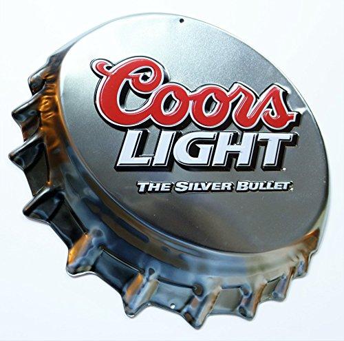 1 X Coors Light Bottle Cap Tin Sign