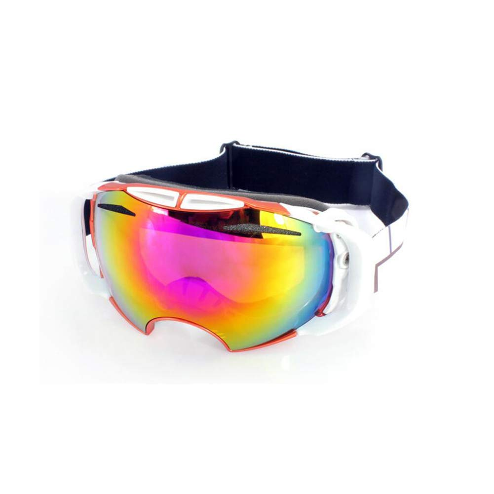 He-yanjing Ski Goggles, Snowboarding Goggle Anti-Fog UV Protection, Ski Goggles for Men and Women, Winter Adult ski Equipment (Color : Orange) by He-yanjing
