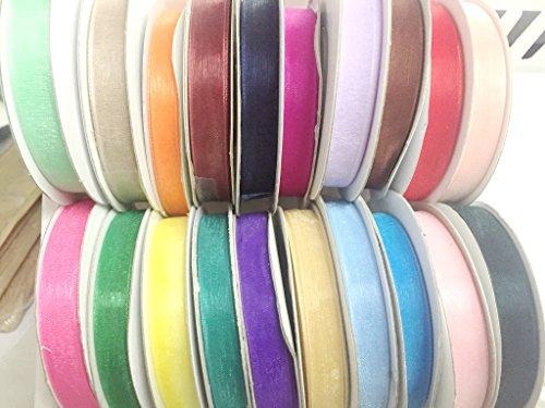 Sheer Organza Ribbon-20 colors of 3/8