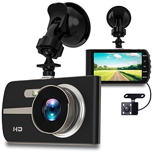 VicSpot Dash Cam 1080P HD, 4.0'' IPS Screen Dual Dashboard Cameras Front and Rear Car Driving Video Recorder Built In G-Sensor, Motion Detection, Loop Recorder,Night Vision,HDR
