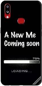 جراب لهاتف سامسونج جالاكسي A10S مطبوع عليه A New Me Coming Soon