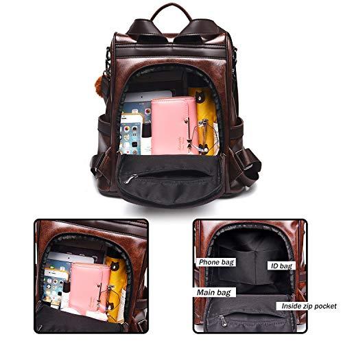 Backpack Purses for Women Large Designer Shoulder Bag Anti-theft Girls Bookbag Casual Daypack
