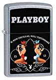 Zippo Playboy Girls Pocket Lighter, Street Chrome