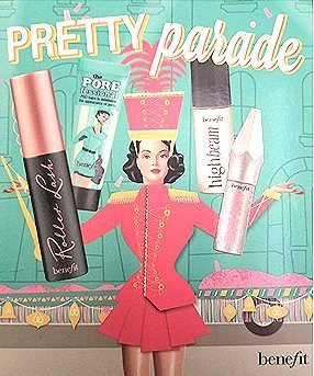 Benefit Cosmetics Pretty Parade Set in Gift Box: Roller Lash, The Porefessional, High Beam and Give Brow all Minis by Benefit Cosmetics