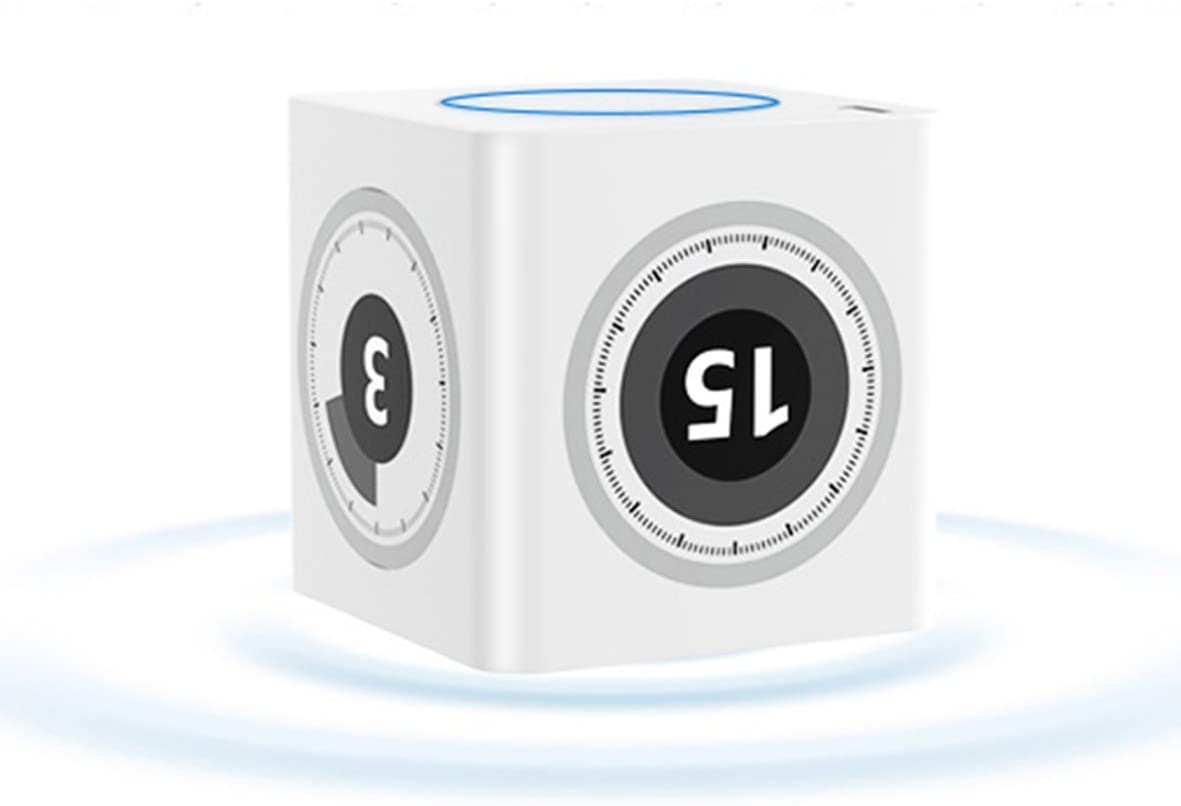 Mini Kitchen Timer,ABS Alarm Clock with USB Charger,1-75 Minutes,Timer cube for Cooking Studying Working Baking Heavy Sleeper,Available for Nearly 6 Months(White).