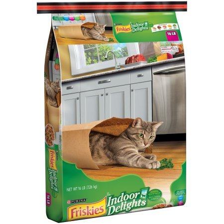 PACK OF 4 - Purina Friskies Indoor Delights Cat Food 16 lb. Bag by Purina Friskies
