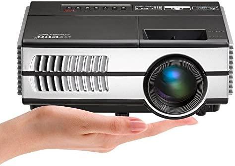 EUG LCD LED proyector HDMI HD 1080p con USB VGA Audio Video Proyector Home Cinema Party enseñanza (1280 * 800,3400lumen, contraste de 3000: 1)