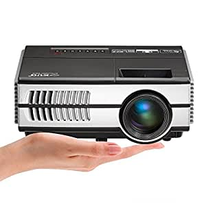 Mini Portable Video Projector HD HDMI 1500 Lumens Zoom Keystone LED Home Movie Gaming Projector with HDMI USB VGA AV Audio for iPhone iPad Smartphone Laptop DVD Xbox PS4 Wii Computer Indoor Outdoor
