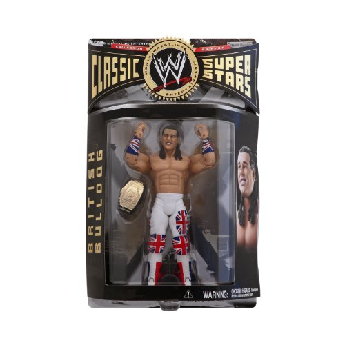 WWE Classic Series 7 British Bulldog Collector Wrestling Figure