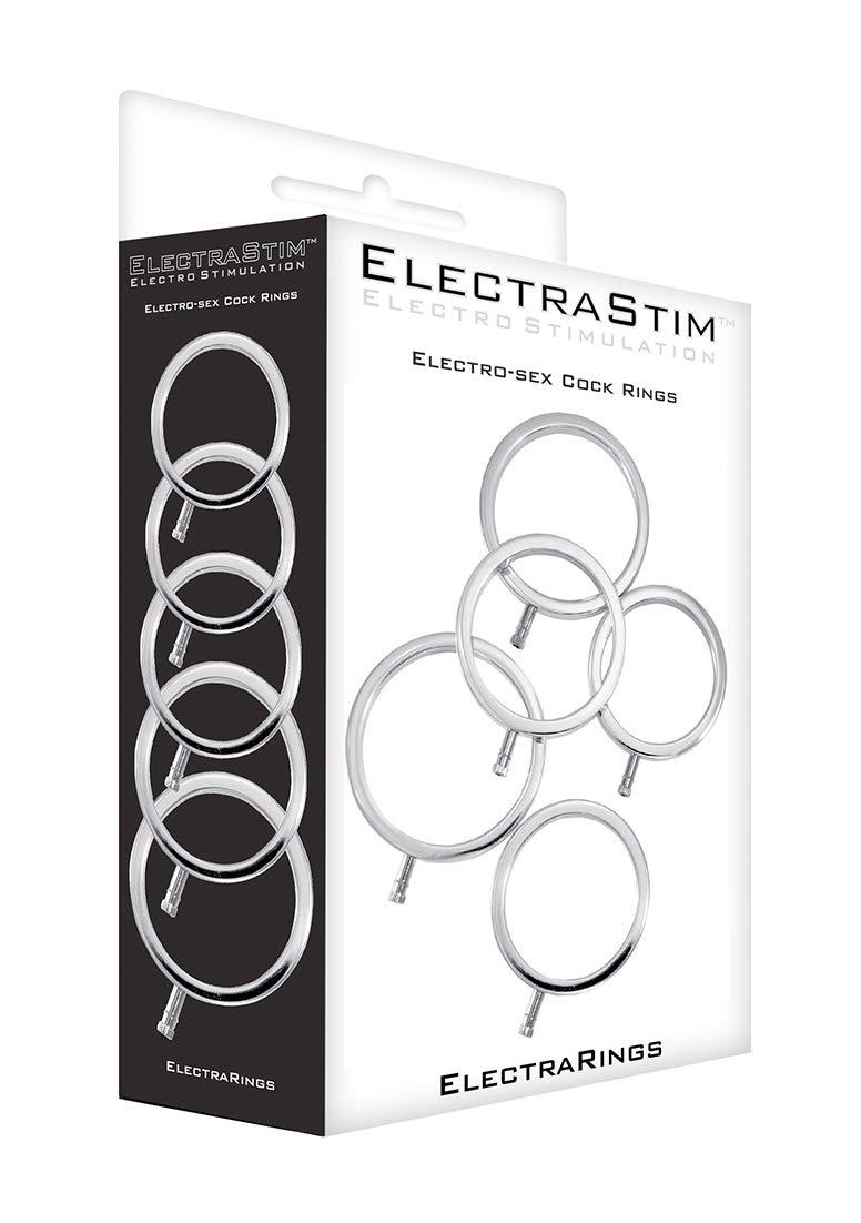 Electrastim Metal C Ring, 5 Count by ElectraStim