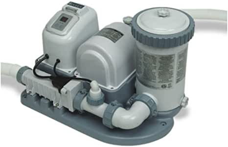 INTEX 2000 GPH Swimming Pool Pump & Saltwater Chlorinator with GFCI - 54611EG