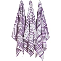 Jumbo Pure Kitchen Towel, Prince Purple, Set of 3