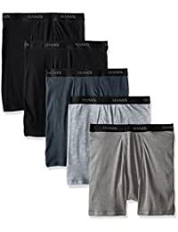 Men's Big & Tall Blue 5-Pack Stretch Dyed Boxer Brief
