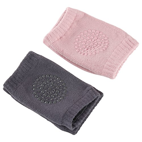 ZEFER Breathable Unisex Infant Baby Elbow Knee Pads Toddler Crawling Safety Protector, 2 Pairs