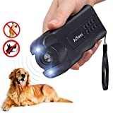 Alfaw LED Ultrasonic Dog Repeller, Electronic Anti Barking Stop Bark Handheld 3 in