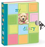 "Peaceable Kingdom Puppy 6.25"" Lock and Key, Lined Page Diary for Kids"