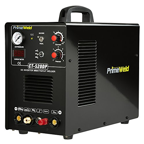 PRIMEWELD CT520DP Pilot Arc 50A Plasma Cutter /200A Tig/Stick Welder Combo welding machine with 1/2 Inch Clean Cut Plasma