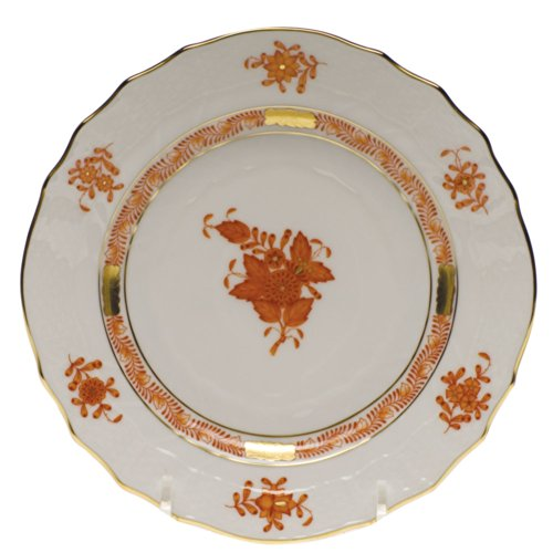 Bouquet Bread Plate - Herend Chinese Bouquet Rust Bread & Butter Plate