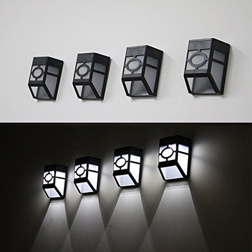 China Solar Powered Wall Mount LED Light Outdoor Garden P...
