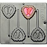 Heart with Cupid Lollipop Chocolate Candy Mold Valentines Day 3044