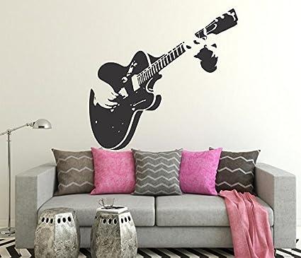Luke and Lilly Guitar Design Vinyl Wall Sticker (85 * 80cm)