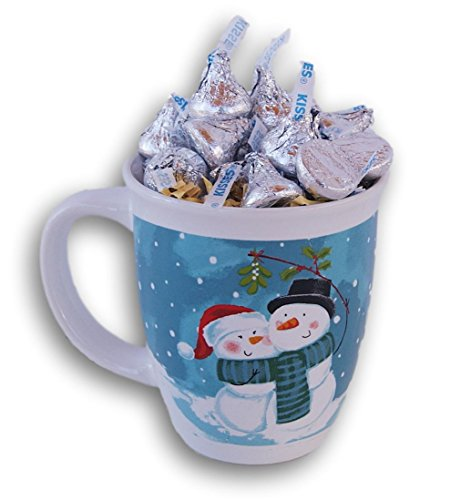 Winter Lovers Snowman Hugs & Kisses Candy Gift Mug - 25 Hersheys - Hershey Gift Shop