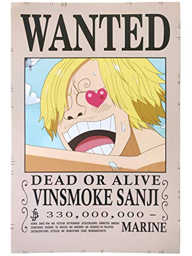 Comicsense Xyz Vinsmoke Sanji And Chopper One Piece Matte Finish Wanted Poster Paper 16 7 X 11 4 Inches Multicolour Amazon In Home Kitchen
