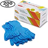 Kids Gloves Disposable, Nitrile Gloves for 7-14 Years - Latex Free, Food Grade, Powder Free - for Crafting, Painting, Gardening, Cooking, Cleaning - 200 PCS Blue