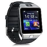 Padgene Smartwatch Armbanduhr Bluetooth Kamera kompatibel mit Android Samsung HTC Sony LG Huawei Motorola smartphopne- mit Spezialangebote (SchwarzA)
