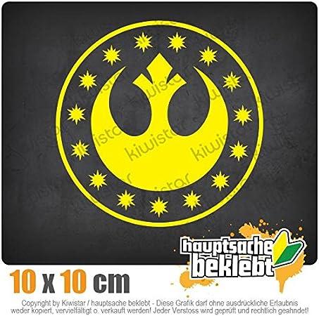Chrom Sticker Aufkleber Neue Republik 10 x 10 cm IN 15 FARBEN Neon