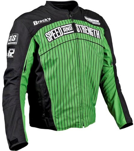 Speed & Strength 62 Motorsports Textile Motorcycle Jacket Green Large