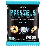 Pressels Baked Pretzel Chips – Non-GMO, Low-Calorie, Vegan, Kosher – Less Fat & Sodium Than Ordinary Chip – Thin, Crispy, Tasty Mini Pretzel Snack Bags by Dream Pretzels, Sea Salt, 2.1 Oz, 8-Pack