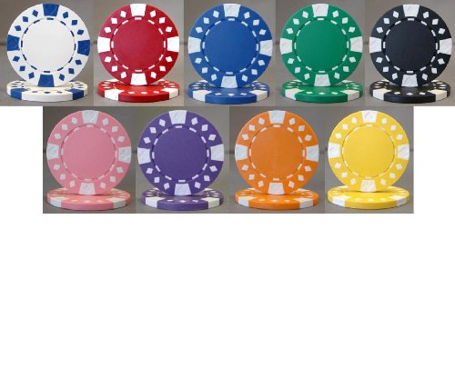 (Diamond Suited 12.5g Poker Chip Sample Set - 9 New Chips)