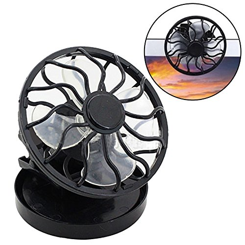 Uplord Solar Fan,Portable Clip On Solar Cell Fan Sun Power Energy Panel Cooling Summer Cooler,for Traveling, Fishing, Climbing