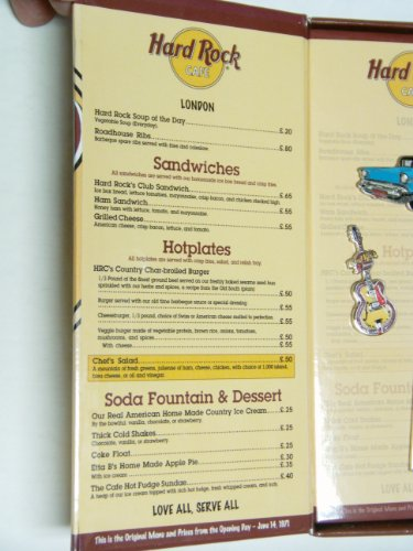 Hard Rock Cafe Dubai Menu Prices