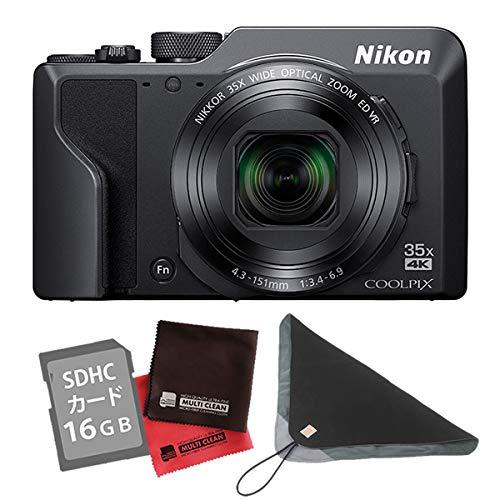 【SD16GB&クロス&カメララップ付き】ニコン コンパクトデジタルカメラ COOLPIX A1000 ブラック (デジカメ/コンデジ)(Nikon)   B07NCWPYMN