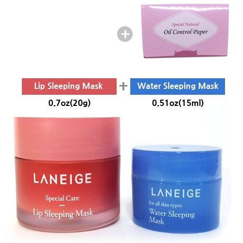 Laneige Lip Sleeping Mask 0.71oz(20ml) + Laneige Water Sleeping Mask 0.51oz(15ml)