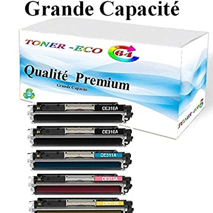 Tonereco64® - 5 cartuchos Premium de tóner compatible con HP 126A ...
