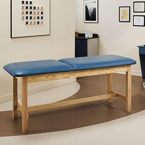Treatment Exam Table Wooden H-brace frame Adj backrest 30