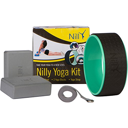 Nilly Gym Yoga Set – 1 Yoga Wheel, 1 Yoga Strap & 2 Yoga Blocks – Versatile Yoga Set for Yoga & Exercises – Suitable Even for Daily Workouts, Pilates & Therapies – Lightweight & Heavy-Duty Build