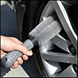 JUSTAUTO Car Wheel Cleaning Brush Wash Car Tire Brush Truck Car Motorcycle Washing Cleaning Tool