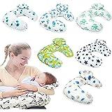 Opuss -- multifunzionale staccabile a forma di U puro cotone cuscino di sostegno maternità allattamento allattamento Baby lettino neonato (2colori)
