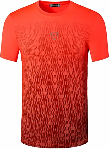 jeansian Men's Sport Dry Fit Short Sleeve T-Shirt Tee Shirt Tshirts Tops Golf Tennis Running LSL146