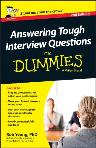 Answering Tough Interview Questions For Dummies - UK Pdf